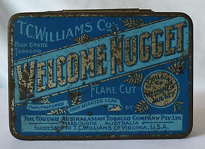 Tc Williams Co Welcome Nugget Vintage Tin The British Australian Tobacco Pty Ltd