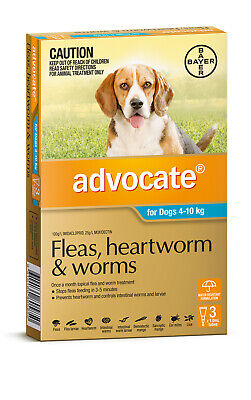 Advocate Flea & Worm Control for Dogs 4-10kg - 3 Pack