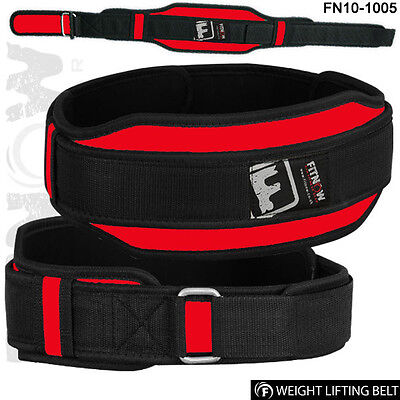Weight Lifting Belts Neoprene Gym Fitness Workout Double Support Brace Belt Red