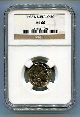 1938-D Buffalo Nickel 5C NGC MS 66