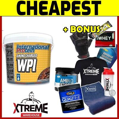 INTERNATIONAL PROTEIN AMINO CHARGED WPI 3kg // WHEY PROTEIN ISOLATE