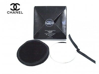 CHANEL mirror novelty new round with a case for exclusive use of black mark Coco