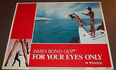 JAMES BOND FOR YOUR EYES ONLY 14X11 LOBY CARD ROGER MOORE