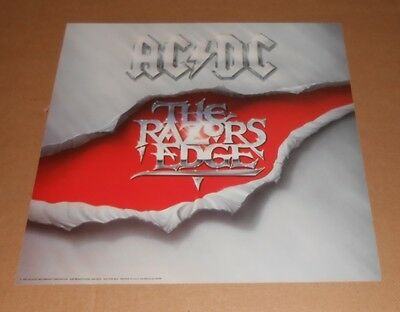 AC/DC The Razors Edge Promo Poster 2-Sided Flat Square 12x12