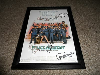 """Police Academy Pp Castx5 Signed & Framed 12""""x8"""" A4 Photo Poster Kim Cattrall"""