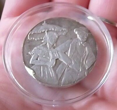 Bally Bart $10 Old Fashioned Guy And Gal Sterling Silver Coin With Air Tite