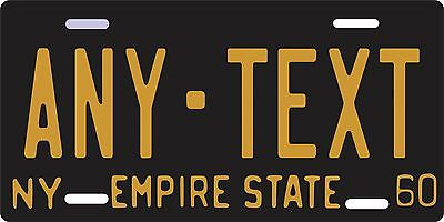 1950s-1960s New York City  License Plate -replica, ANY TEXT - aluminum, auto tag