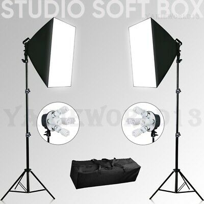 Photography Studio Continuous Softbox Lighting Video Soft Box Light Stand Kit