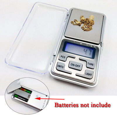 Mini Digital Pocket Scale Weighing LCD Jewelry Kitchen Scales 0.1g-500g UK Stock