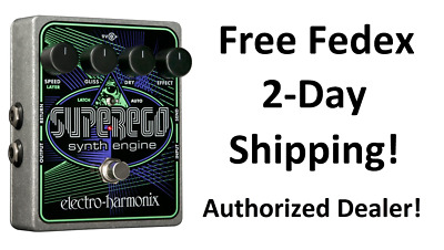 New Electro-Harmonix EHX Superego Polyphonic Synth Engine Guitar Effect Pedal!