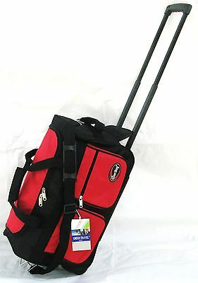 "20"" 40LB CAP ROLLING WHEELED DUFFLE BAG CARRY ON LUGGAGE SUITCASE  W/ HANDLE GTR"