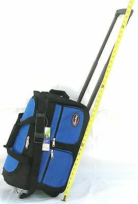 "20"" 40LB CAP ROLLING WHEELED DUFFLE BAG CARRY ON LUGGAGE SUITCASE  W/ HANDLE GTB"