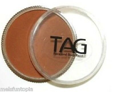 TAG Body Art 32g Pot Regular Mid Brown Professional Face and Body Paint -Make up
