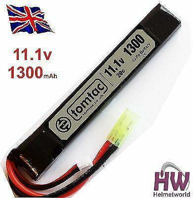 Airsoft Battery 11.1V 20C 1300 Mah Lipo Mini Tamiya Tomtac