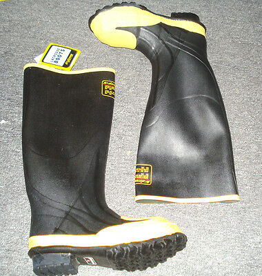 LACROSSE MEN'S Knee Boots Steel Toe Black/Yellow 1 Pair Knee Boots Rubber |ED4|