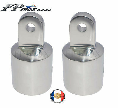 Embout Tube Bimini de Capote 22mm inox 316 ( Lot de 2 ) --