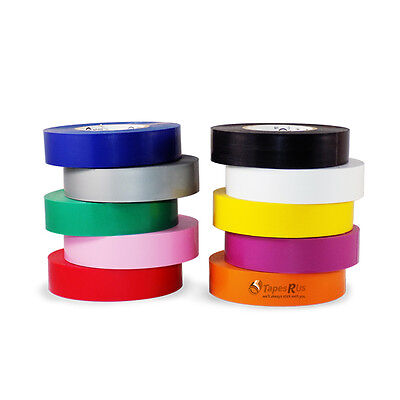 "10 Rolls General Purpose Electrical Tape Rainbow Pack: 3/4"" X 66 FT"