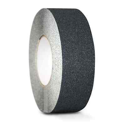 "2"" x  60FT BLACK ROLL SAFETY NON SKID TAPE ANTI SLIP TAPE STICKER GRIP SAFE GRIT"