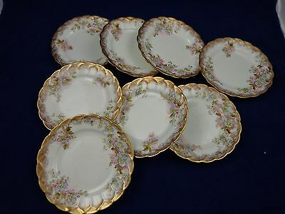 8 Vintage Queens China G&W Sons England Bread and Butter Plates