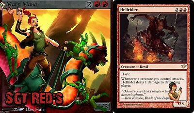 4 Hellrider   ~Dark Ascension~ NM Magic the Gathering  ✰✰SGT Reds ✰✰ 4x x4