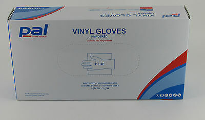 1000 x Blue Medium Vinyl Powder Disposable Gloves Catering Janitorial Cleaning
