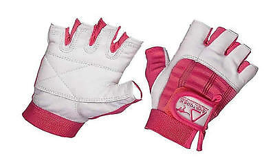 Ladies weight lifting Exercise Gym Leather Gloves Pink & white women only S-XL