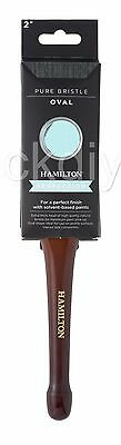 Hamilton Perfection Namel Var Oval Pure Bristle Paint Brush All Sizes