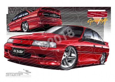 HSV Limited edition cars 1991 VN SS GROUP A COMMODORE DURIF RED  STRETCHED CANVA