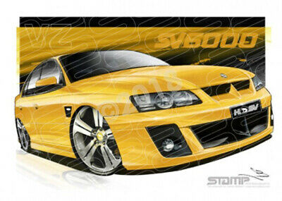 HSV Limited edition cars VZ SV6000 DEVIL YELLOW  STRETCHED CANVAS (V151)