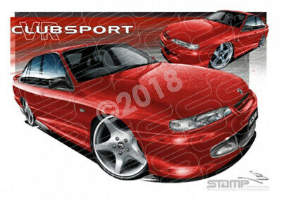 HSV Clubsport VR VR CLUBSPORT RED  STRETCHED CANVAS (V154)-New_Itemq