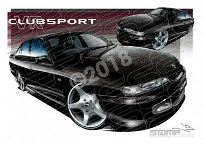 HSV Clubsport VR VR CLUBSPORT BLACK  STRETCHED CANVAS (V156)-New_Itemq