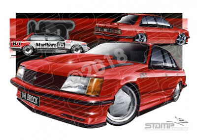 Commodore VH HDT VH SS HDT BROCK COMMODORE MARANELLO RED  STRETCHED CANVAS (HC02