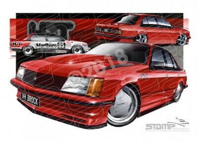 Commodore VH VH SS HDT BROCK COMMODORE MARANELLO RED  STRETCHED CANVAS (HC02A)-N