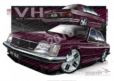 Commodore VH 1981 VH SLE COMMODORE BURGUNDY  STRETCHED CANVAS (HC127B)