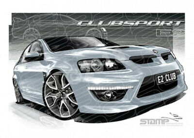 HSV Clubsport E2 VE2 CLUBSPORT NITRATE SILVER PENTAGON  STRETCHED CANVAS (V213)-