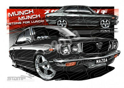 Imports Mazda RX3 BLACK  STRETCHED CANVAS (S012H)-New_Itemq