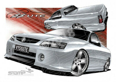 Ute VY SS VY SS UTE QUICKSILVER  STRETCHED CANVAS (HC32B)