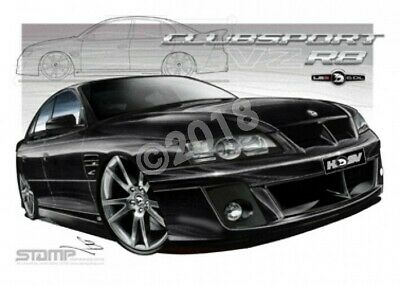 HSV Clubsport VZ VZ CLUBSPORT R8 PHANTOM BLACK  STRETCHED CANVAS (V094)