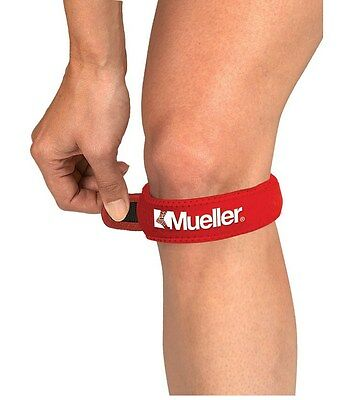 Mueller Adjustable Patella Jumpers Knee Support Tendonitis Strap Pain Relief RED
