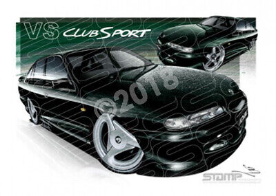 HSV Clubsport VS VS CLUBSPORT PANTHER MICA  STRETCHED CANVAS (V158B)-New_Itemq
