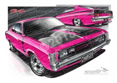 Classic VALIANT E38 CHARGER MAGENTA  STRETCHED CANVAS (C006)