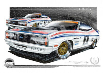 Bathurst Legends 1977 FORD XC FALCON GT ALLAN MOFFAT / JACKY ICKX  STRETCHED CAN