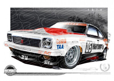 Bathurst Legends 1979 HOLDEN LX TORANA A9X SS PETER BROCK  STRETCHED CANVAS (B01
