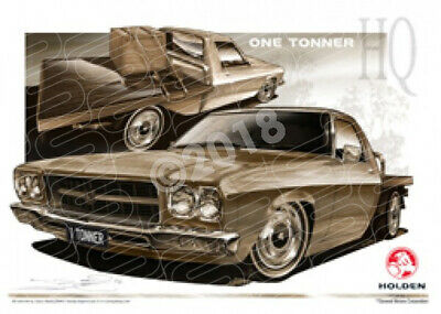 Ute HQ HQ ONE TONNER SPEPIA TONE  STRETCHED CANVAS (HL26)