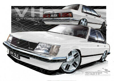 Commodore VH 1981 VH SLE WHITE COMMODORE  STRETCHED CANVAS (HC125)