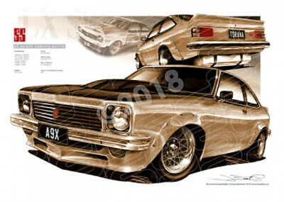 Holden Heritage 1977 HOLDEN A9X TORANA SS HATCH SEPIA TONE  STRETCHED CANVAS (HL