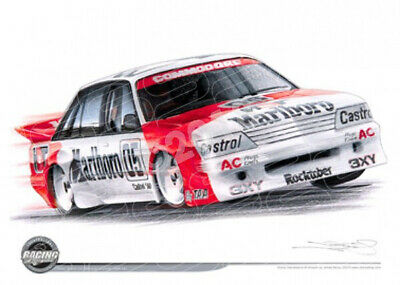 Racing Legends 1984 PETER BROCK 05 VK COMMODORE BATHURST WINNER  STRETCHED CANVA