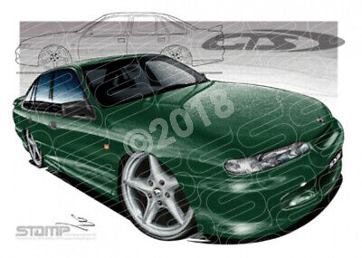HSV Gts VR VR GTS SHERBROOKE GREEN  STRETCHED CANVAS (V008)