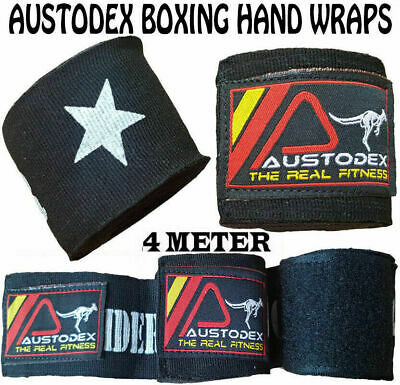Hand Wraps Boxing MMA UFC HAND WRAPS Wrist Guards cotton Bandages blue straps