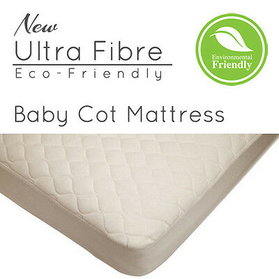 New Baby Cot Mattress for Cot Bed / Cribs - Ultra Fibre Eco-Friendly - All Sizes